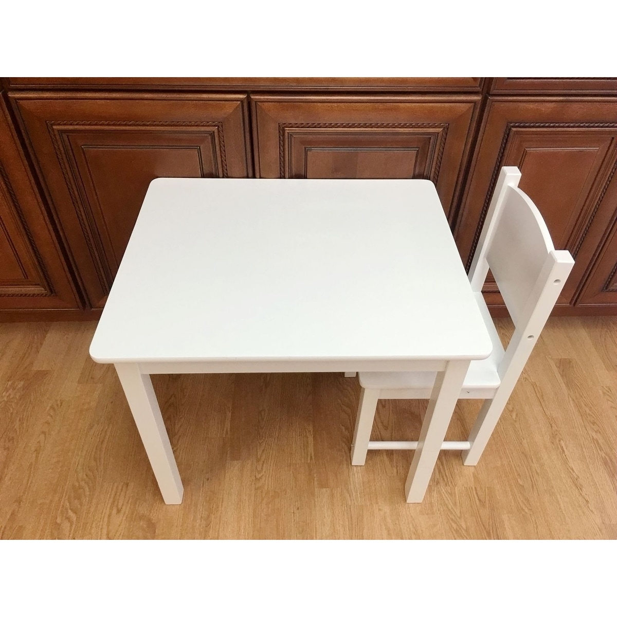 Shop Kidu0027s Table And 2 Chairs Set Solid Hard Wood Sturdy Child Table And  Chairs White   Free Shipping Today   Overstock   21957594