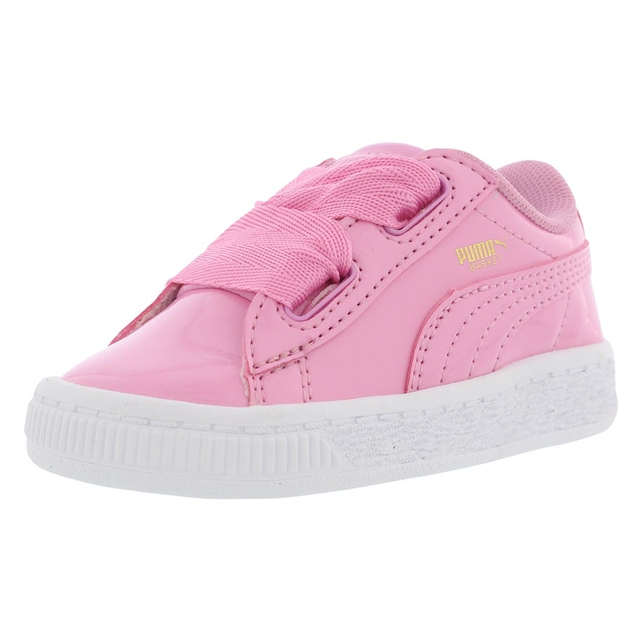 big sale 1389d 59ff5 Puma Basket Heart Patent Casual Infant's Shoes - 10 m us toddler