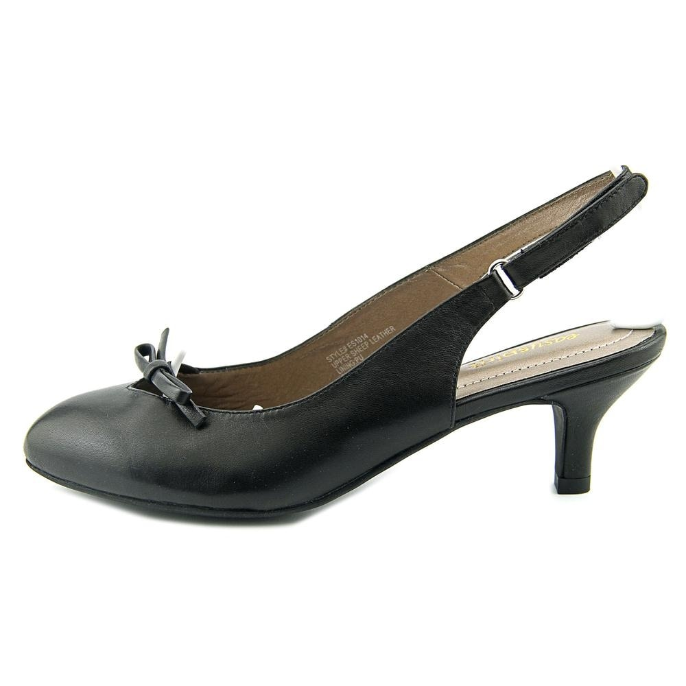 76bffb98cc3 Shop Easy Spirit Kitten Heel Pointed Toe Leather Slingback Heel - Free  Shipping On Orders Over  45 - Overstock - 13576111