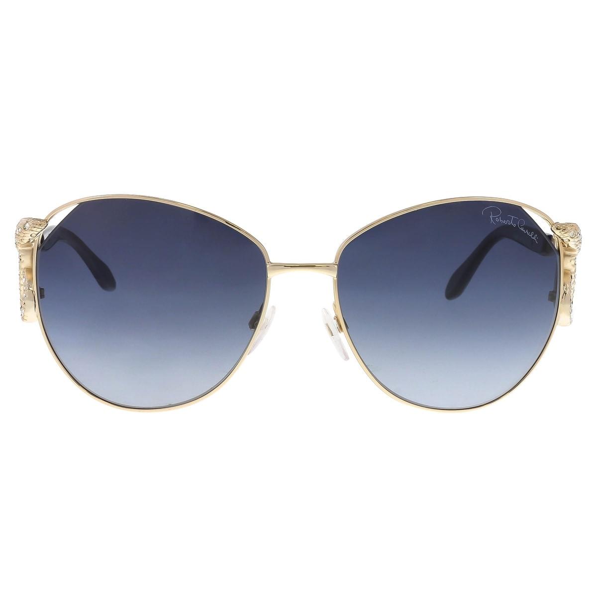 c1f2429d26e8c Shop Roberto Cavalli RC897 S 28W Hatysa Gold Navy Round Sunglasses -  60-16-135 - Free Shipping Today - Overstock - 19757018