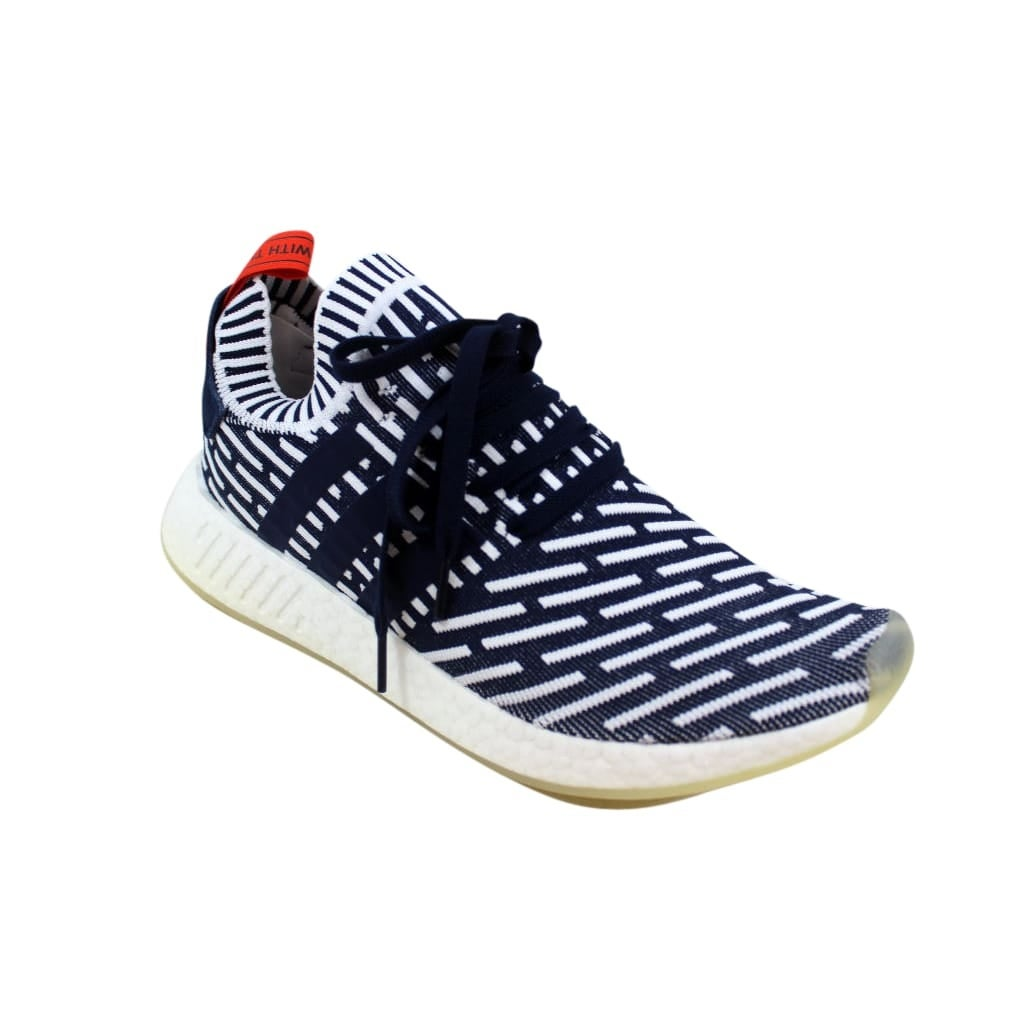 0db7576b2e0dc Shop Adidas NMD R2 Primeknit Navy White-Red Roni BB2909 Men s - Free  Shipping Today - Overstock - 27339908