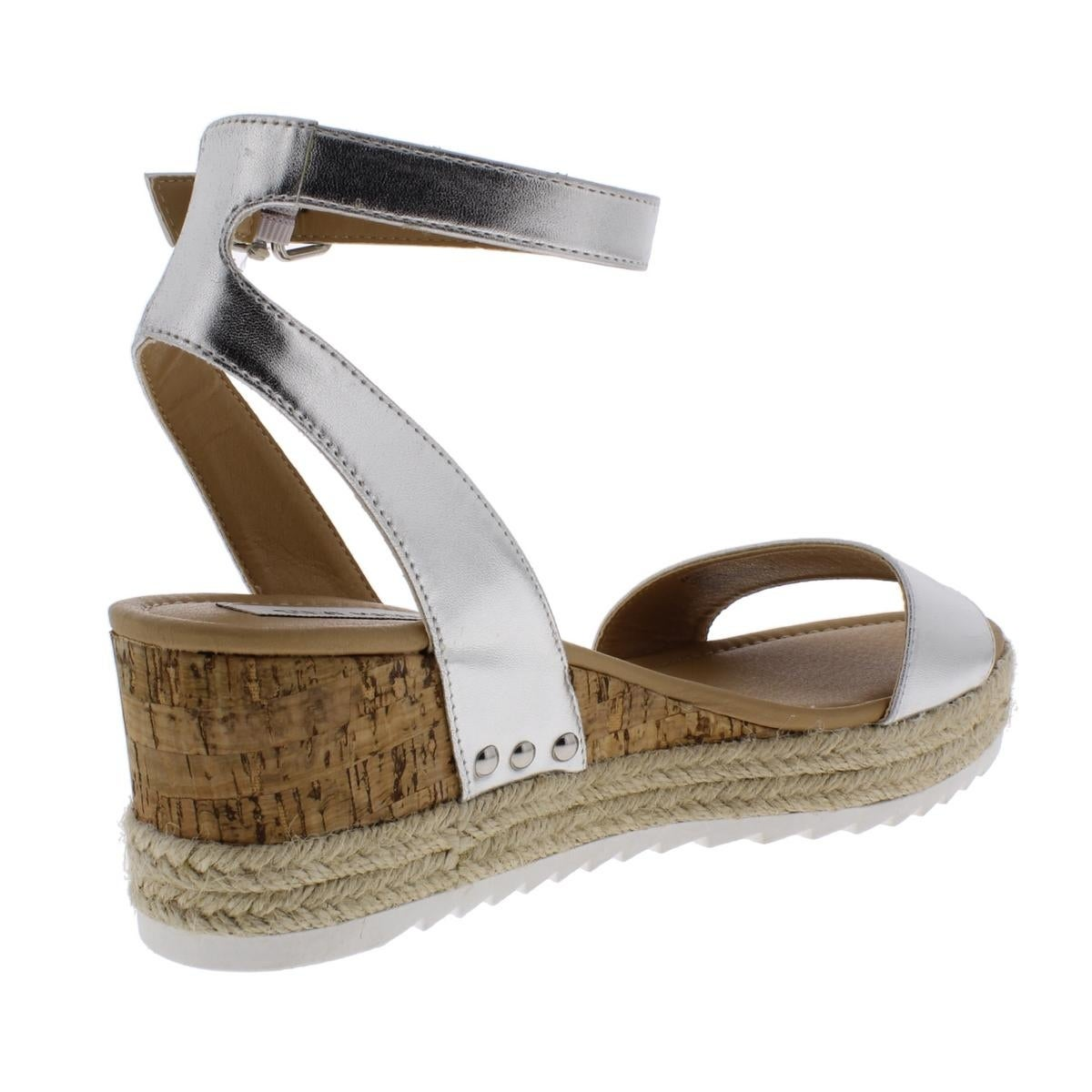 8091be626b1 Steve Madden Womens Jaide Espadrilles Leather Wedges