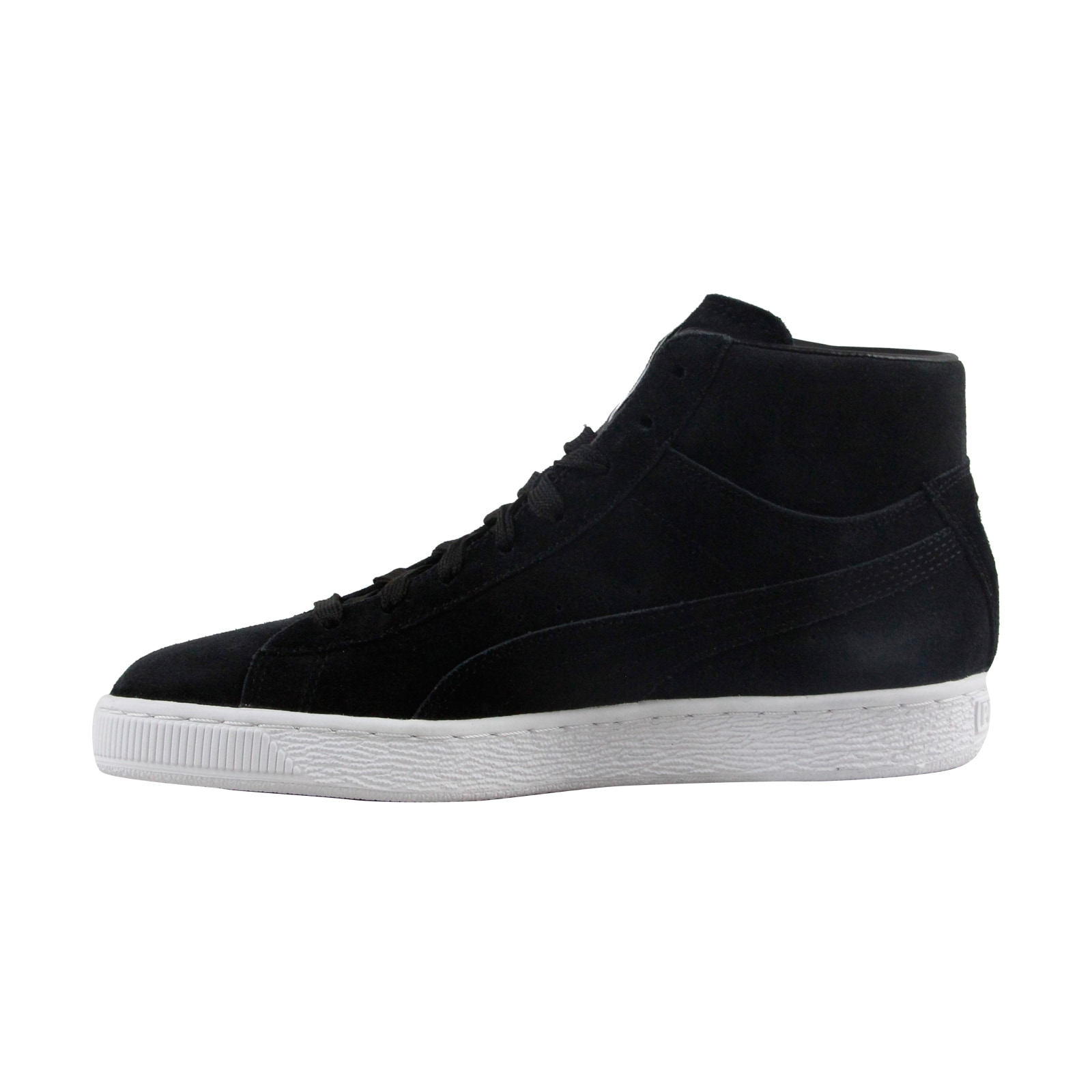 6f3d317d04c2 Shop Puma Classic Mid Mens Black Suede High Top Lace Up Sneakers Shoes -  Free Shipping Today - Overstock - 22468682
