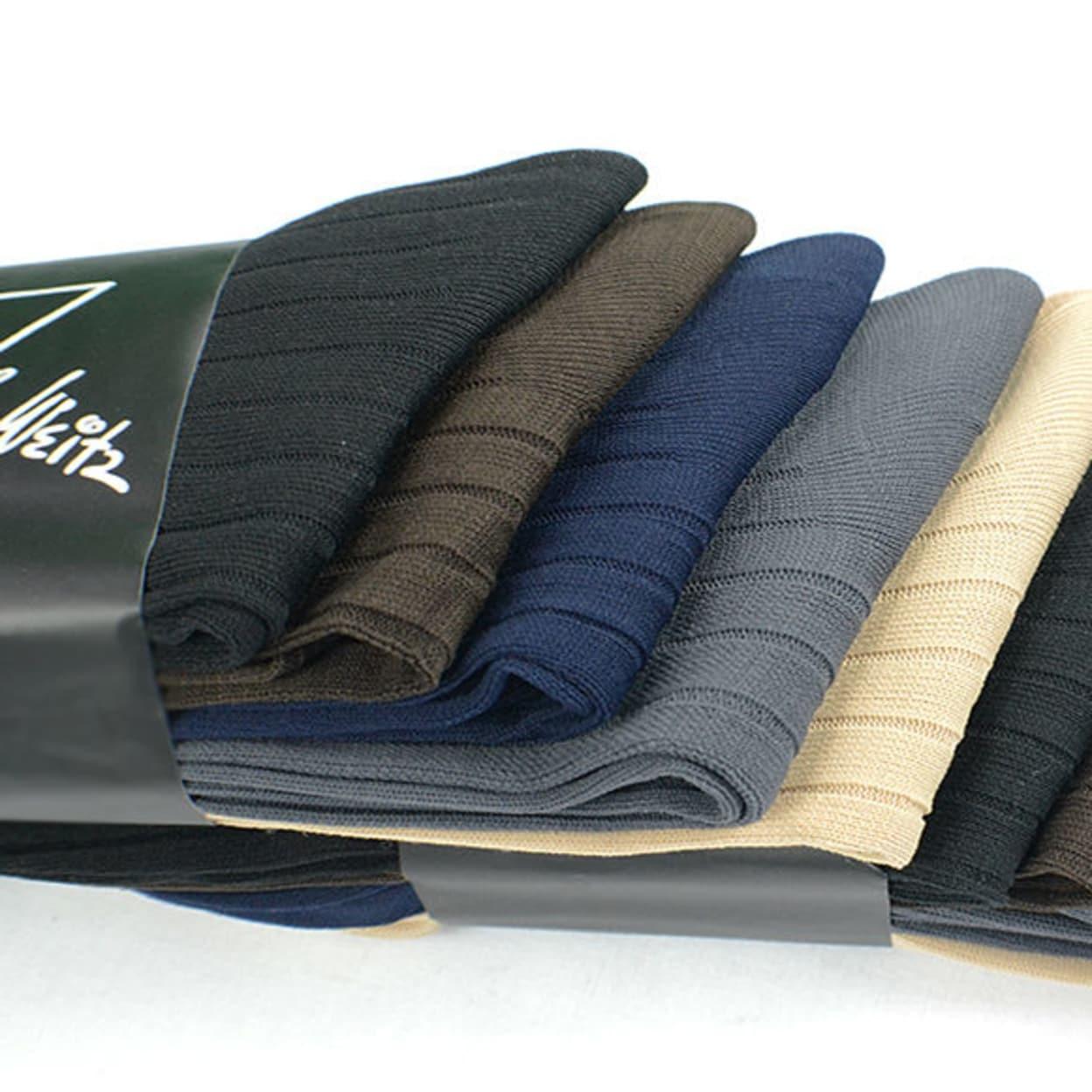 5 Pairs of Men's Casual Dress Socks - John Weitz Brand