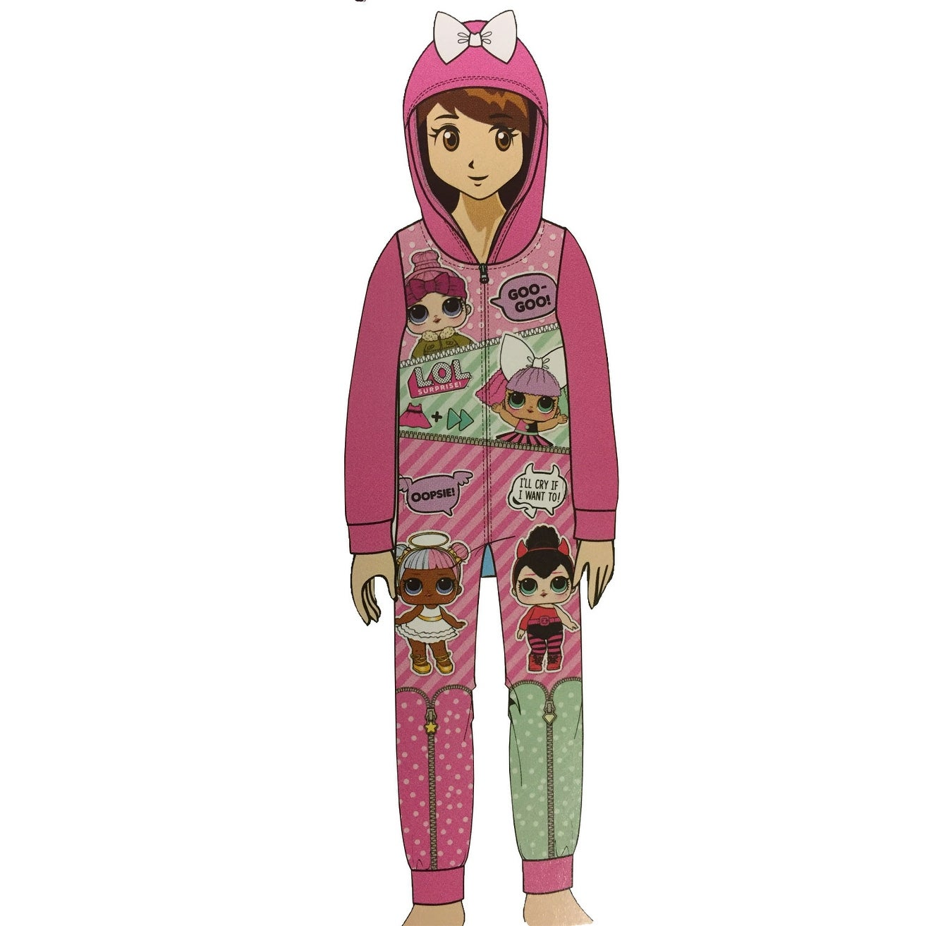 ed51a484d4 Girls  Fleece Blanket Sleeper Hooded Onesie Pajama - Free Shipping On  Orders Over  45 - Overstock - 23436634