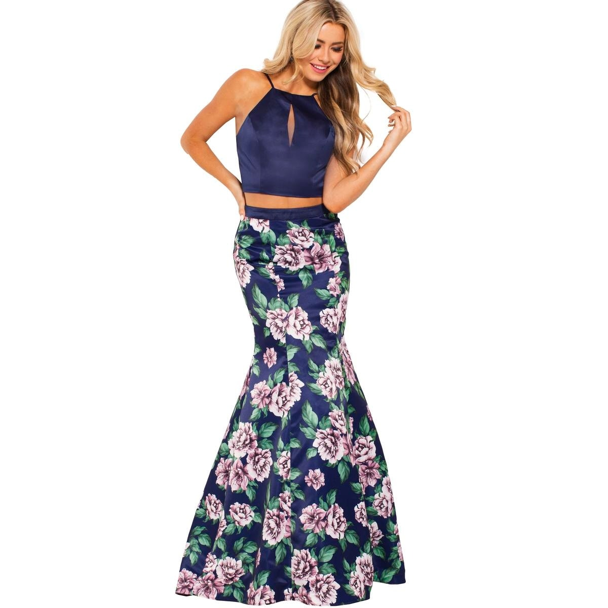 42717398720fb2 Shop JVN by Jovani Womens 59138A Crop Top Dress Prom Two Piece - Free  Shipping Today - Overstock - 26639849