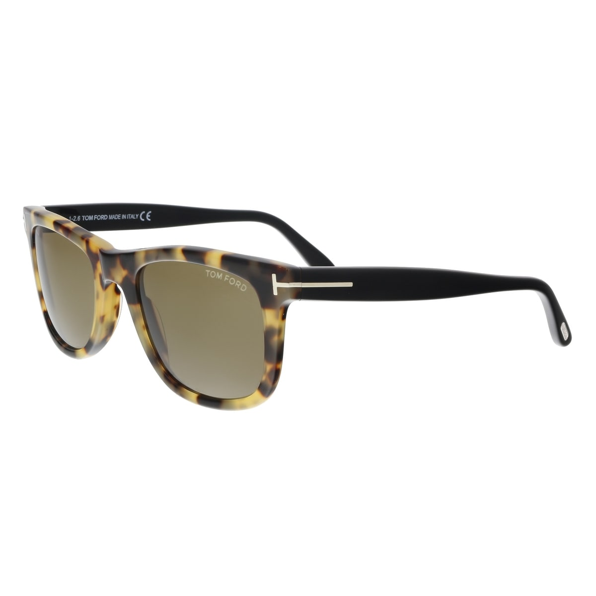 74f85e3a00e9 Shop Tom Ford FT0336 S 55J LEO Yellow Havana Square Sunglasses - 52 ...