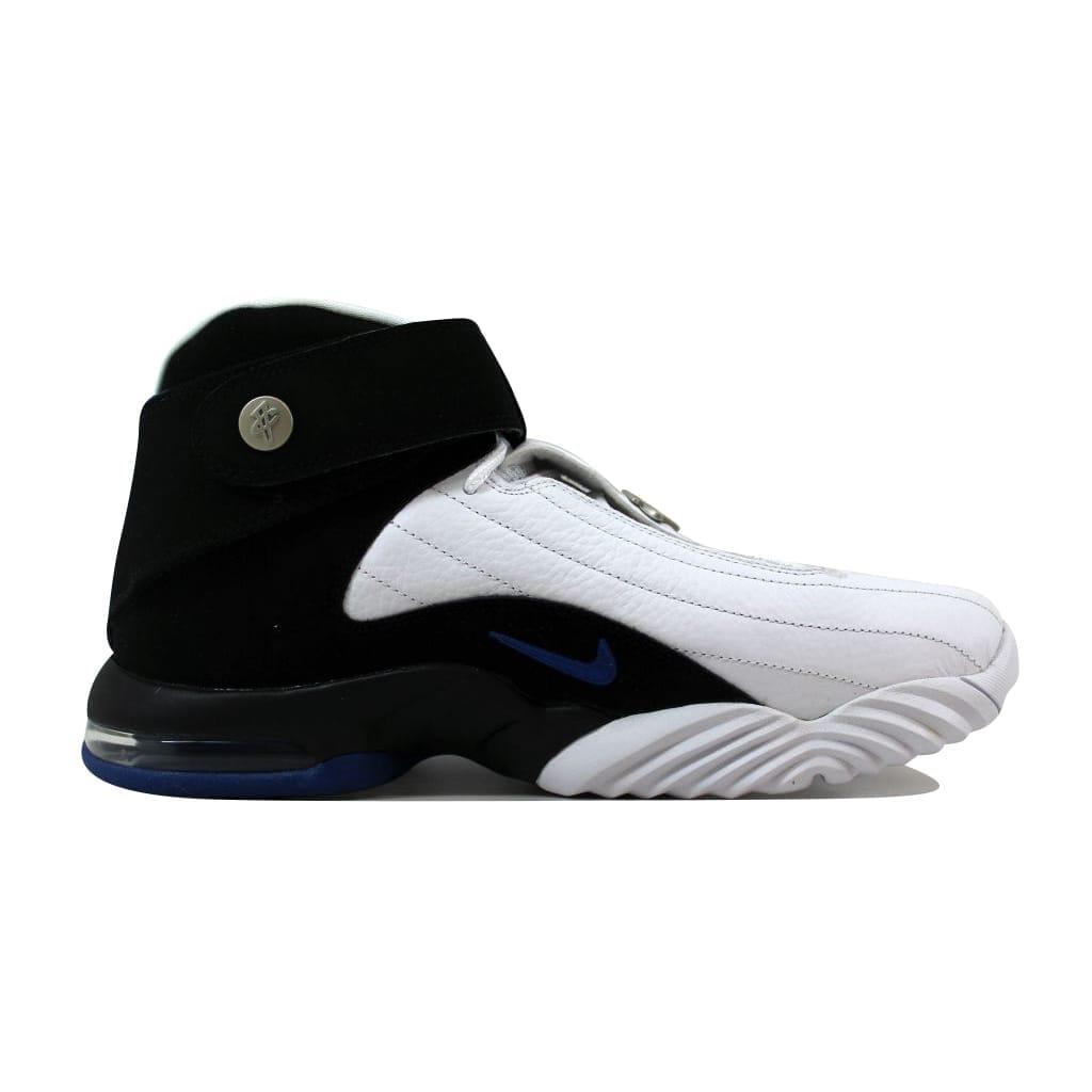 the best attitude db58b 3e4ac Shop Nike Men s Air Penny IV 4 White Black-Atlantic Blue Orlando Magic  864018-100 - Free Shipping Today - Overstock - 21141417