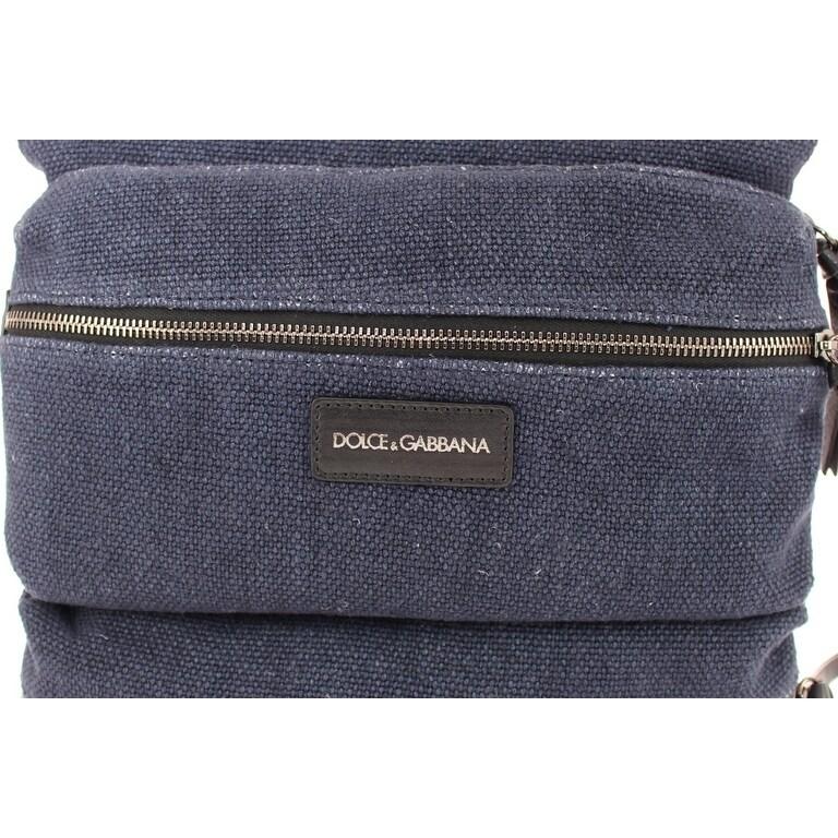a5429ca417 Shop Dolce   Gabbana Blue denim messenger bag - Free Shipping Today -  Overstock.com - 16714955