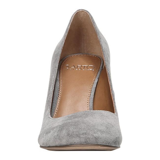 758a6c0d5f05 Shop Sarto by Franco Sarto Women s Aziza Pump Grey Suede - Free Shipping  Today - Overstock - 22863443