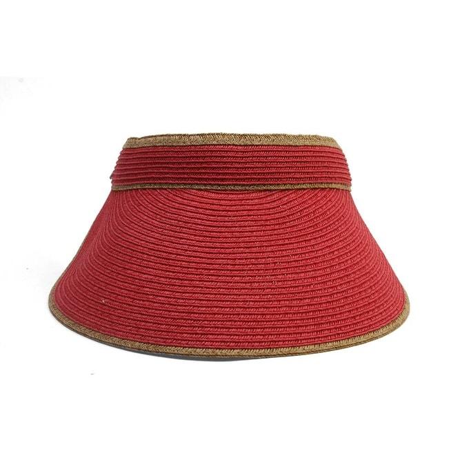 Shop Scala Paper Braid Visor Sun Hat w  Adjustable Closure - Free Shipping  On Orders Over  45 - Overstock.com - 16949148 8226477b1863