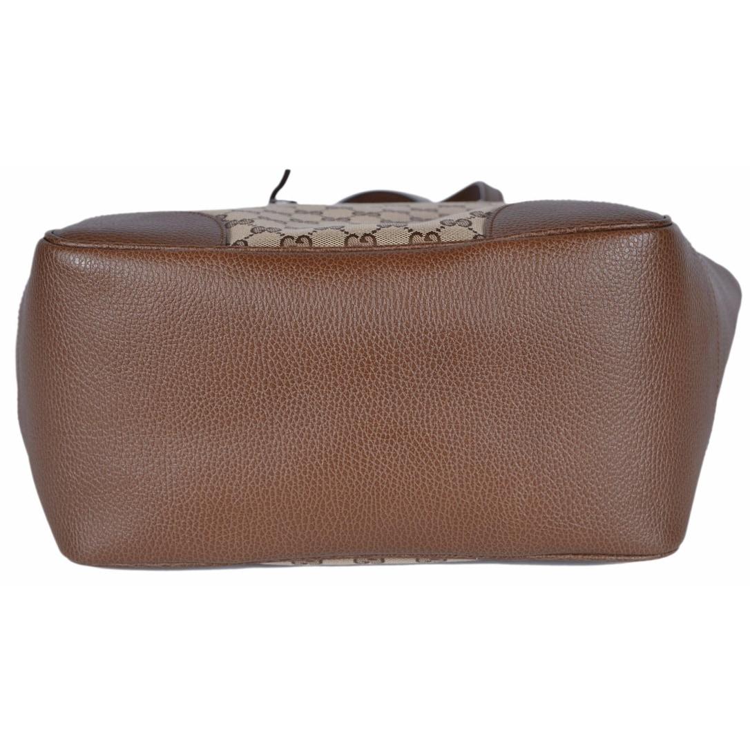 298d71289 Shop Gucci Women's 449242 Beige Brown Large Bree GG Guccissima Purse  Handbag Tote - Beige/Brown - 18