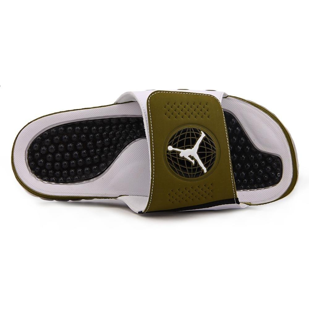 31cb350ac2329c Shop Jordan Hydro IX Retro Militia Green White-White-Blck Sandals - Free  Shipping On Orders Over  45 - Overstock - 13748705