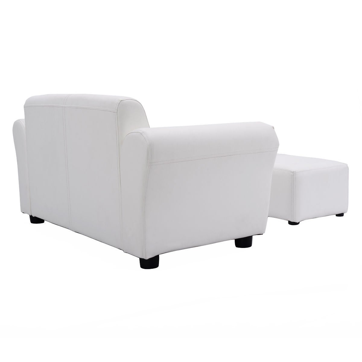 Shop Costway White Kids Sofa Armrest Chair Couch Lounge Children Birthday  Gift W/ Ottoman   Free Shipping Today   Overstock.com   15801782