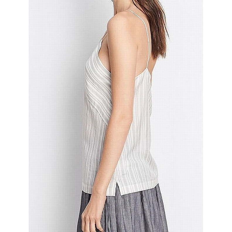 58152350f12da Shop Vince NEW White Black Women s Size Medium M Tank Cami Silk Striped Top  - Free Shipping Today - Overstock - 21709152