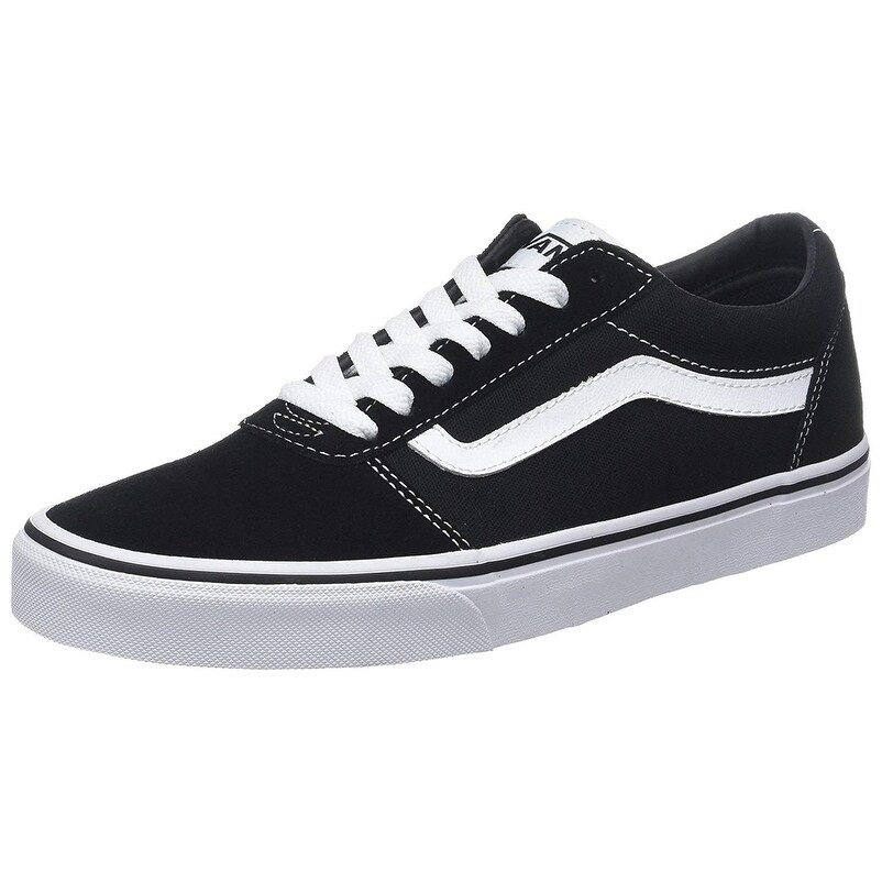 Vans Men's Ward Low-Top Sneakers, (Suede/Canvas) Black/White Car, 10.5 Uk 10.5 Uk