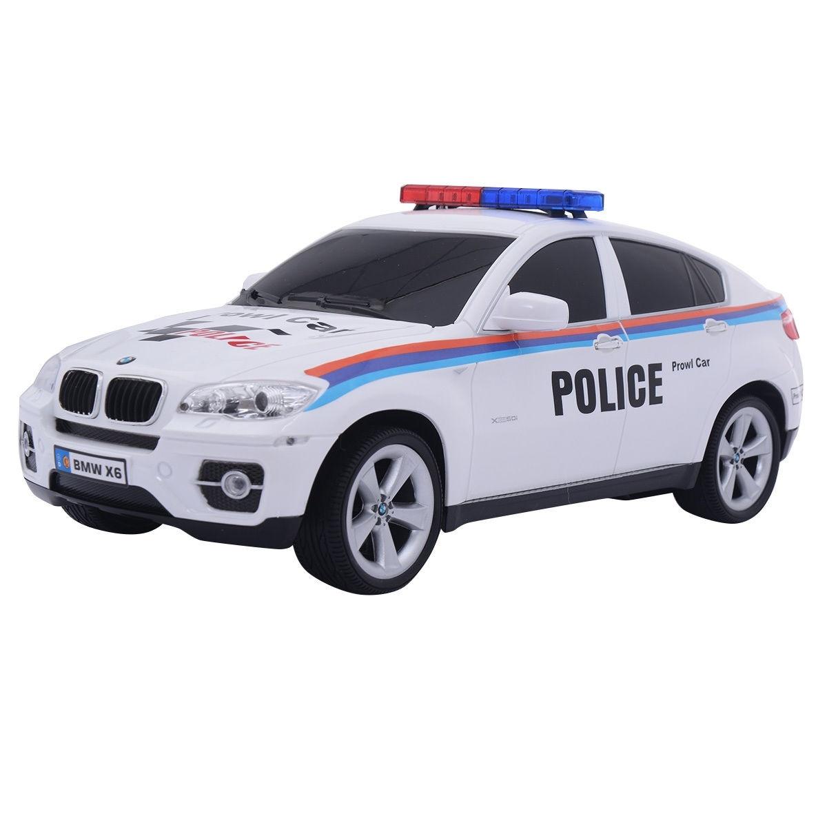 Costway Bmw X6 Licensed Electric Radio Remote Control Rc Police Car White
