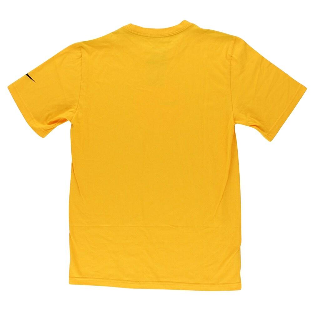 495e3856 Nike Mens Pittsburgh Steelers NFL Fast Logo T Shirt Yellow