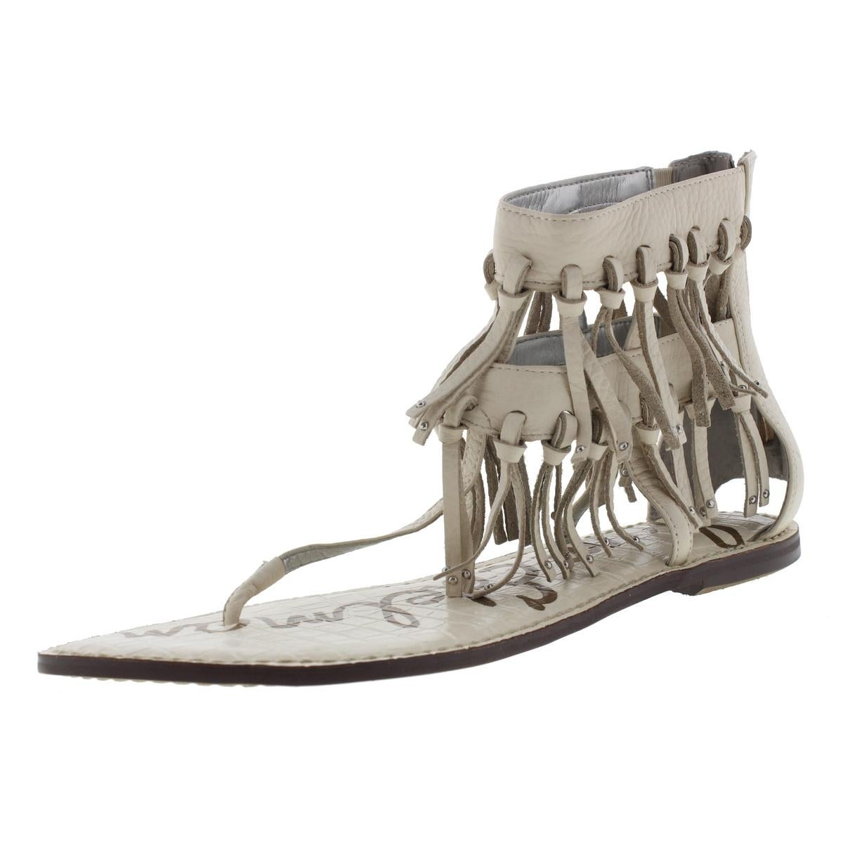 969584137ba48 Shop Sam Edelman Womens Griffen Gladiator Sandals Leather Fringe - Free  Shipping Today - Overstock - 13680446