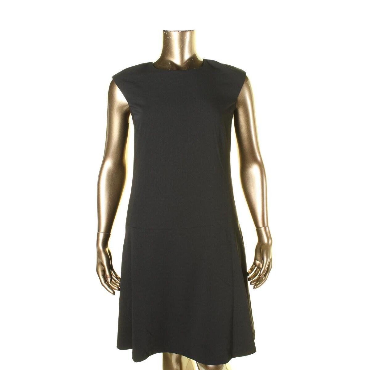 Lauren Ralph Lauren Womens Cocktail Dress Hidden Back Zipper Crew ...
