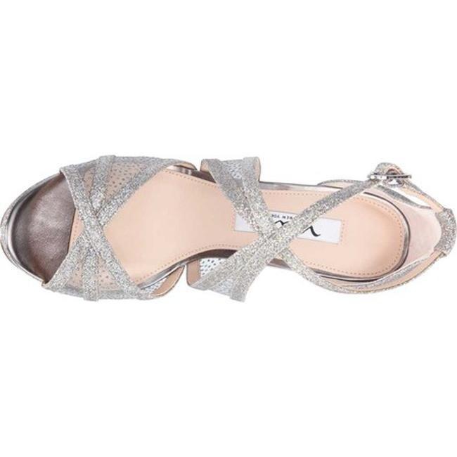 ef8f7f448fa Shop Nina Women s Fenna Platform Stiletto Sandal Stone Glitter Fabric Snow  Dot Mesh - Free Shipping Today - Overstock - 22051363