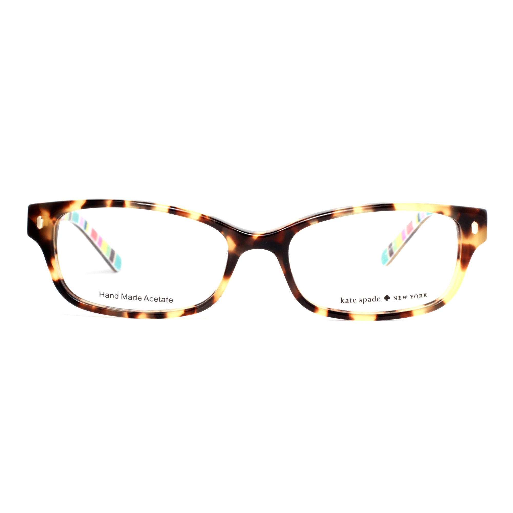 da3ade60b3 Shop Kate Spade Lucyann W40 51mm Tortoise Brown Stripe Women s Rectangular  Eyeglasses - camel tortoise brown - 51mm-16mm-135mm - Free Shipping Today  ...