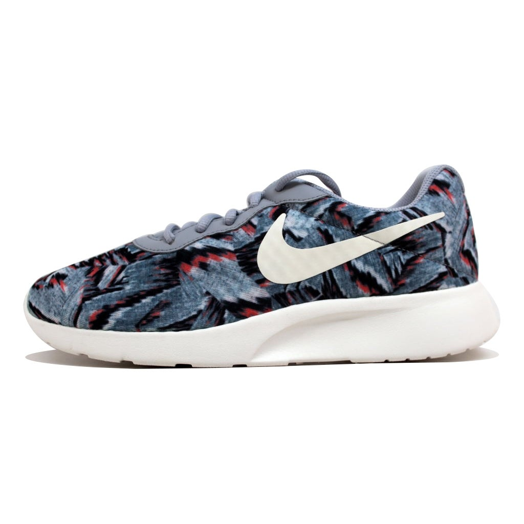 920dd88a9a clearance shop nike womens tanjun print wolf grey sail bright mango 820201  002 free shipping today