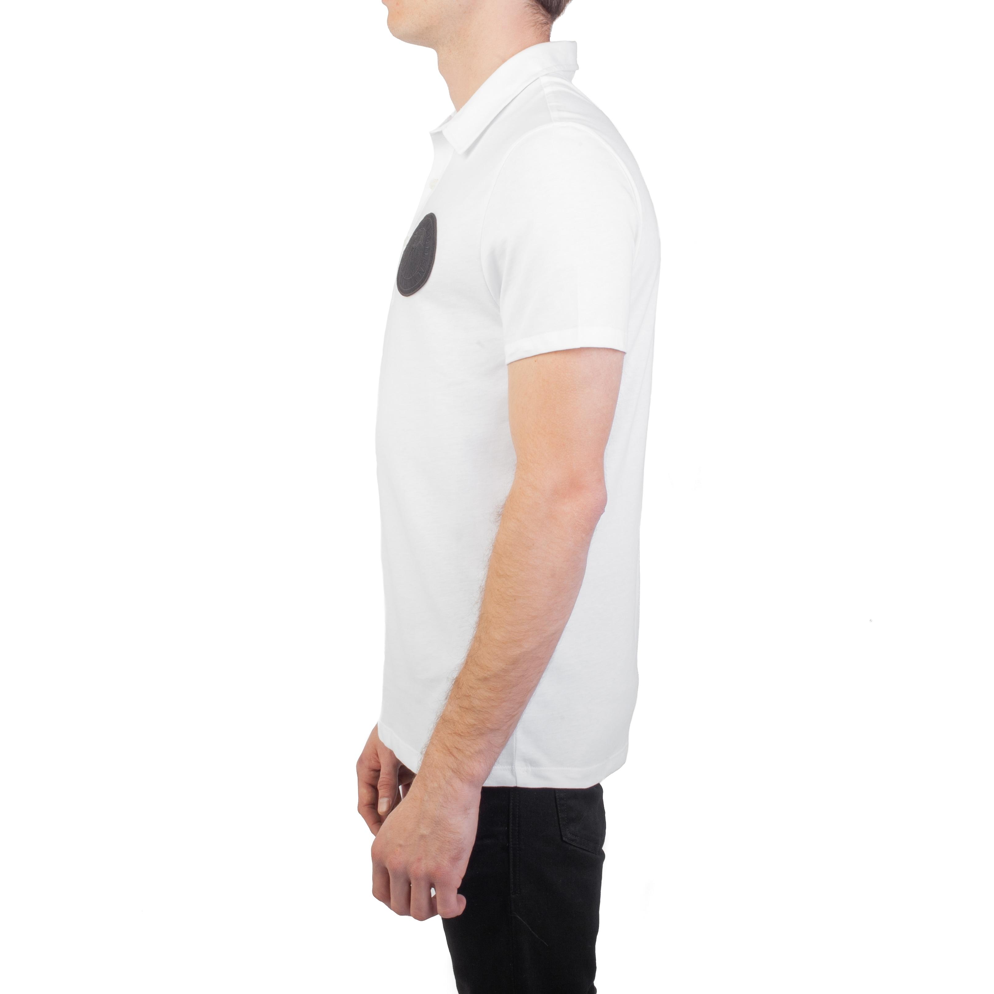 d531d05d Shop Versace Collection Men's Pima Cotton Circular Medusa Polo Shirt White  - Free Shipping Today - Overstock - 26506696