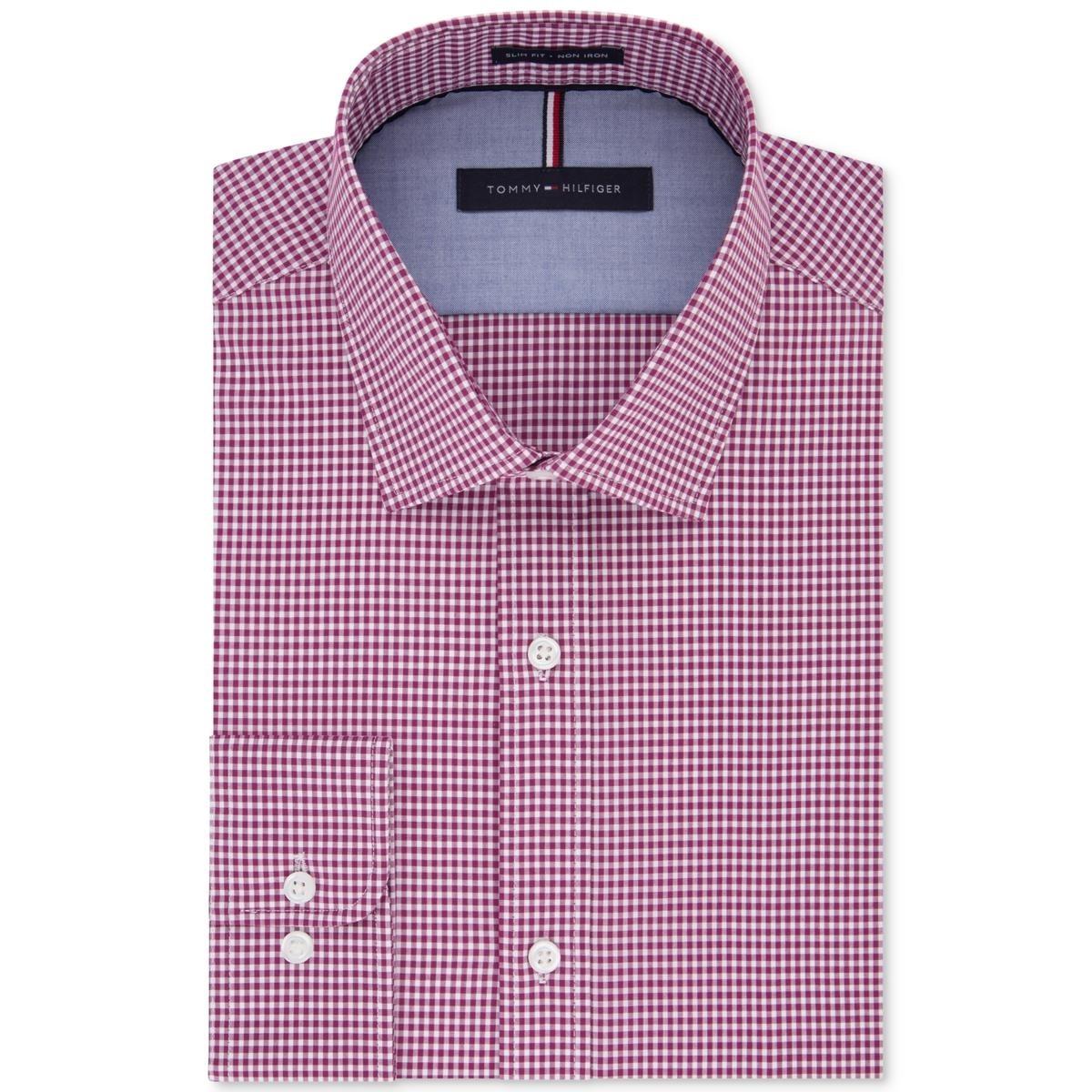Shop Tommy Hilfiger Mens Big Tall Button Down Shirt Gingham Non