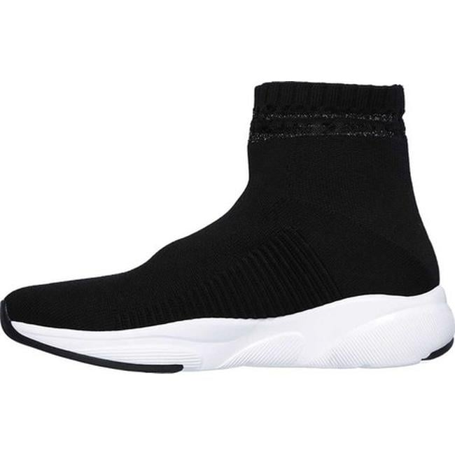 f029e7a90c11 Shop Skechers Women s Meridian On the Rise High Top Sneaker Black White -  Free Shipping Today - Overstock - 20461702