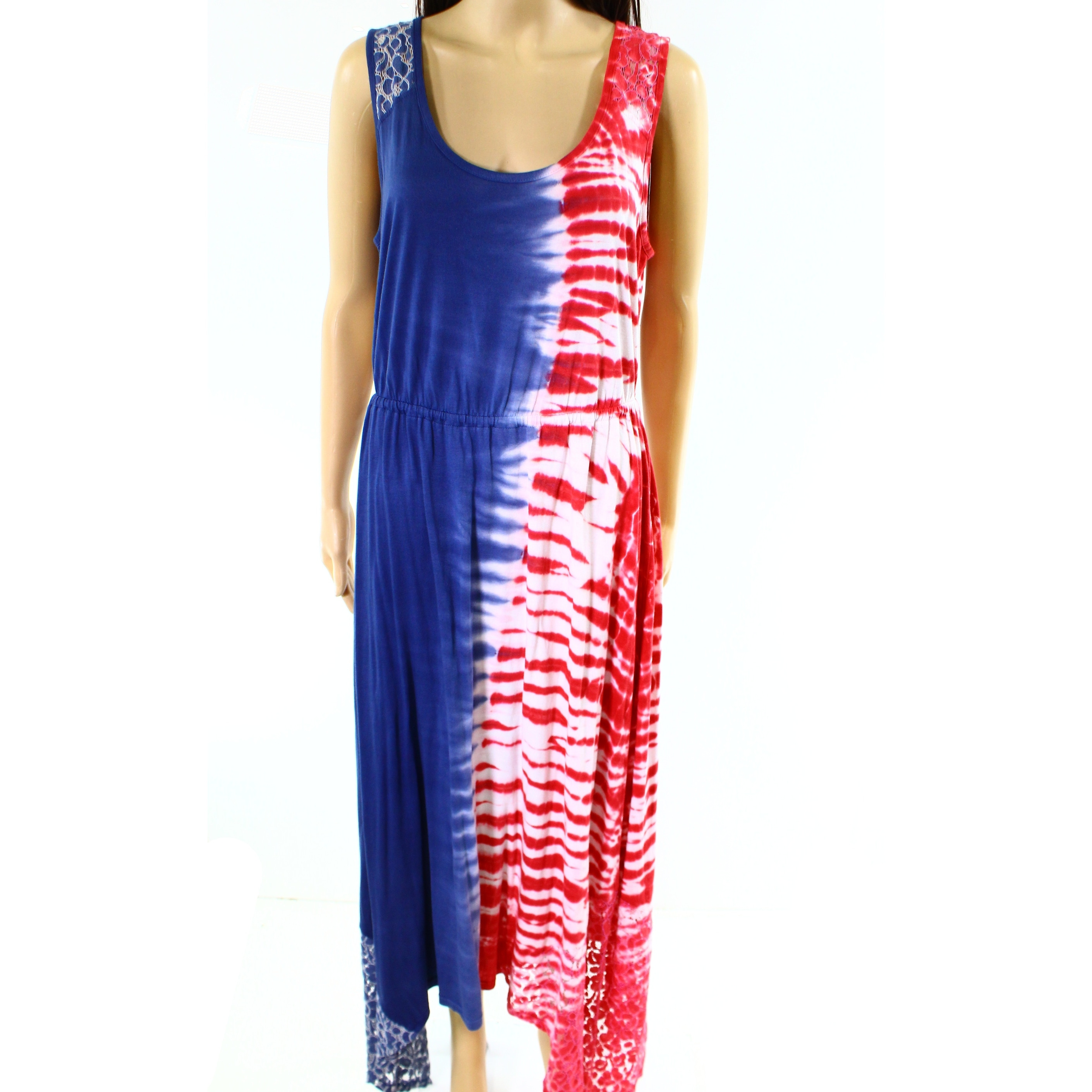 0be1fcd2e0b42 Shop One world NEW Red White Womens Size Large L Lace-Detail Maxi Dress -  Free Shipping On Orders Over $45 - Overstock - 20534479