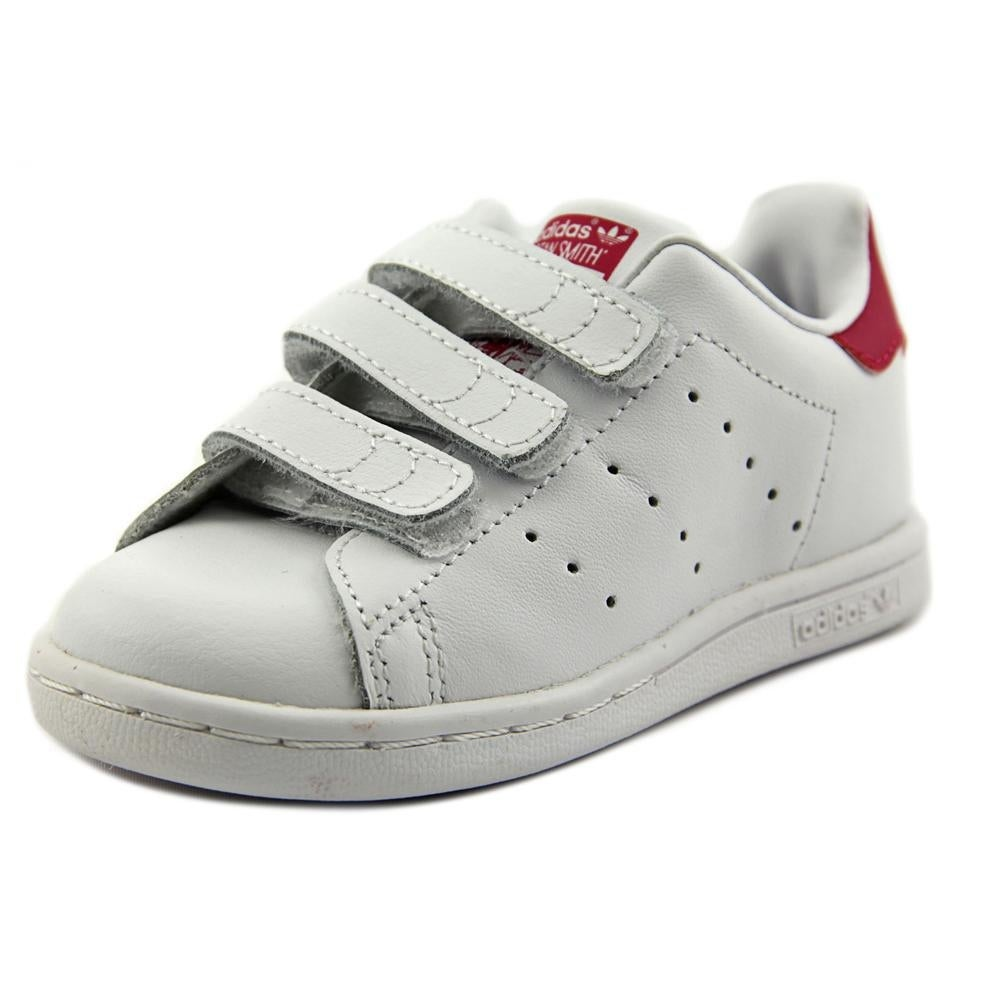 classic fit e5dce 24596 Shop Adidas Stan Smith CF I Toddler Round Toe Leather White Sneakers - Free  Shipping On Orders Over  45 - Overstock - 16338234