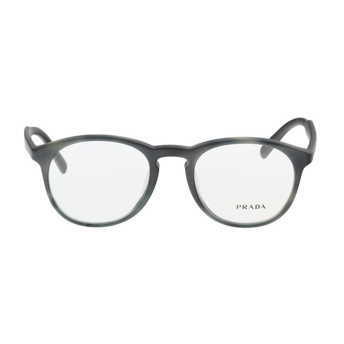 77cf2f1cf4a Shop Prada PR 19SVF USD1O1 Matte Grey Round Optical Frames - 50-20-140 -  Free Shipping Today - Overstock - 19547295
