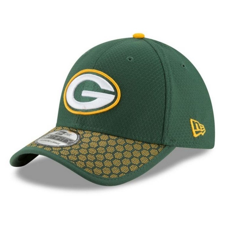 574e957bb88 New Era Green Bay Packers Baseball Cap Hat NFL 2017 Sideline 39Thirty  11462133