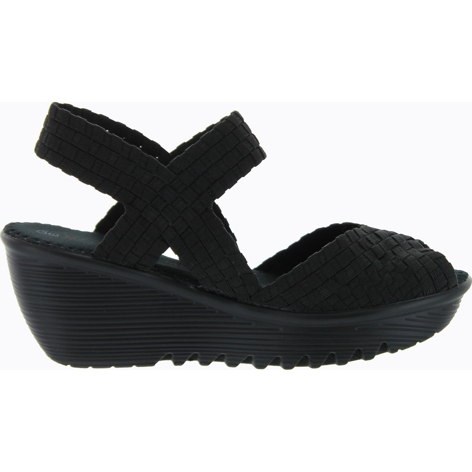 7f15cc7890be Shop Bernie Mev Womens Fame Woven Sandals - Black - Free Shipping Today -  Overstock - 14384487