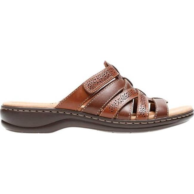 7a20e895483 Shop Clarks Women s Leisa Field Slide Brown Multi Full Grain Leather - Free  Shipping On Orders Over  45 - Overstock - 20702508