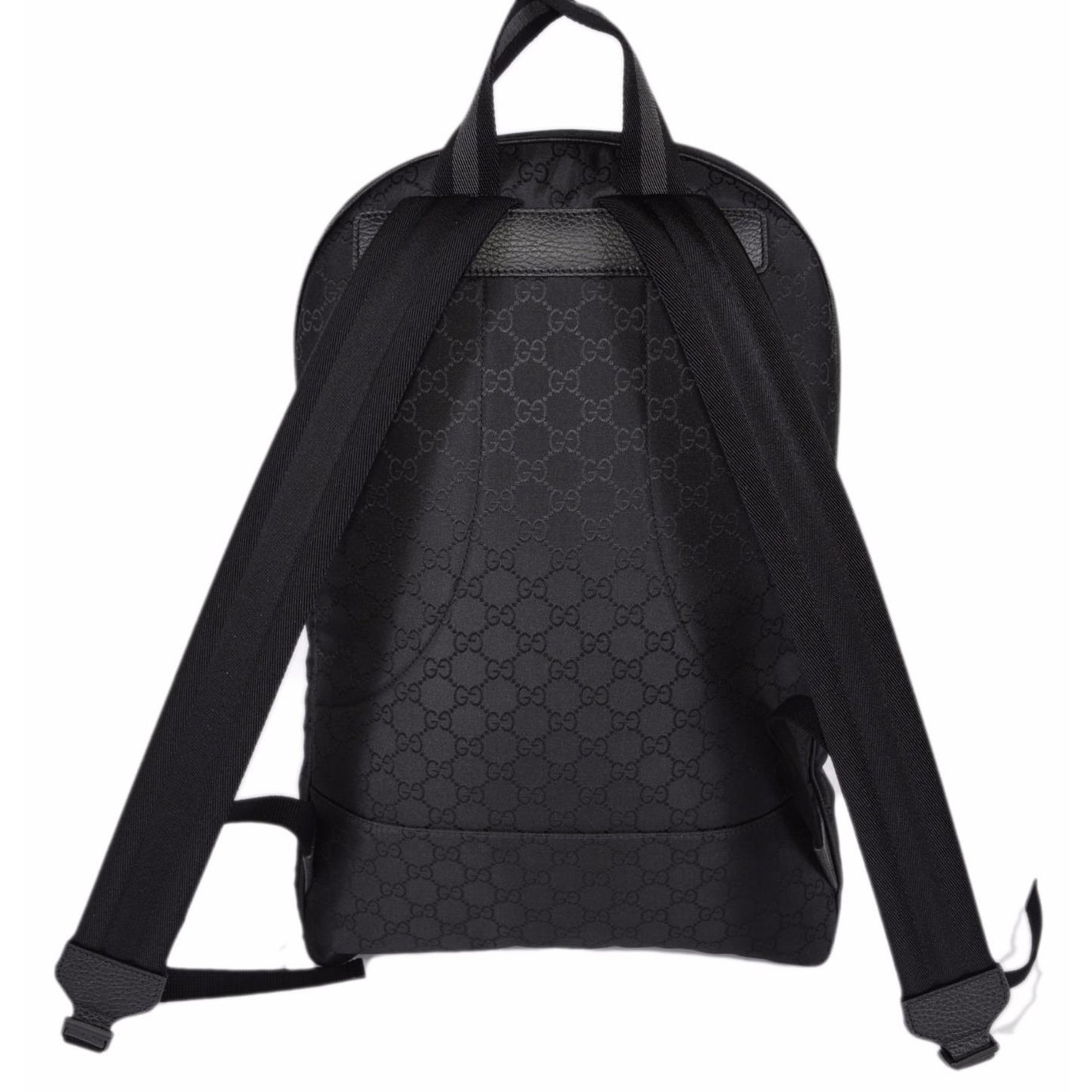 fe29fe2db2e Shop Gucci 449181 Black Nylon GG Guccissima Slim Backpack Rucksack Travel  Bag - Free Shipping Today - Overstock - 13818749