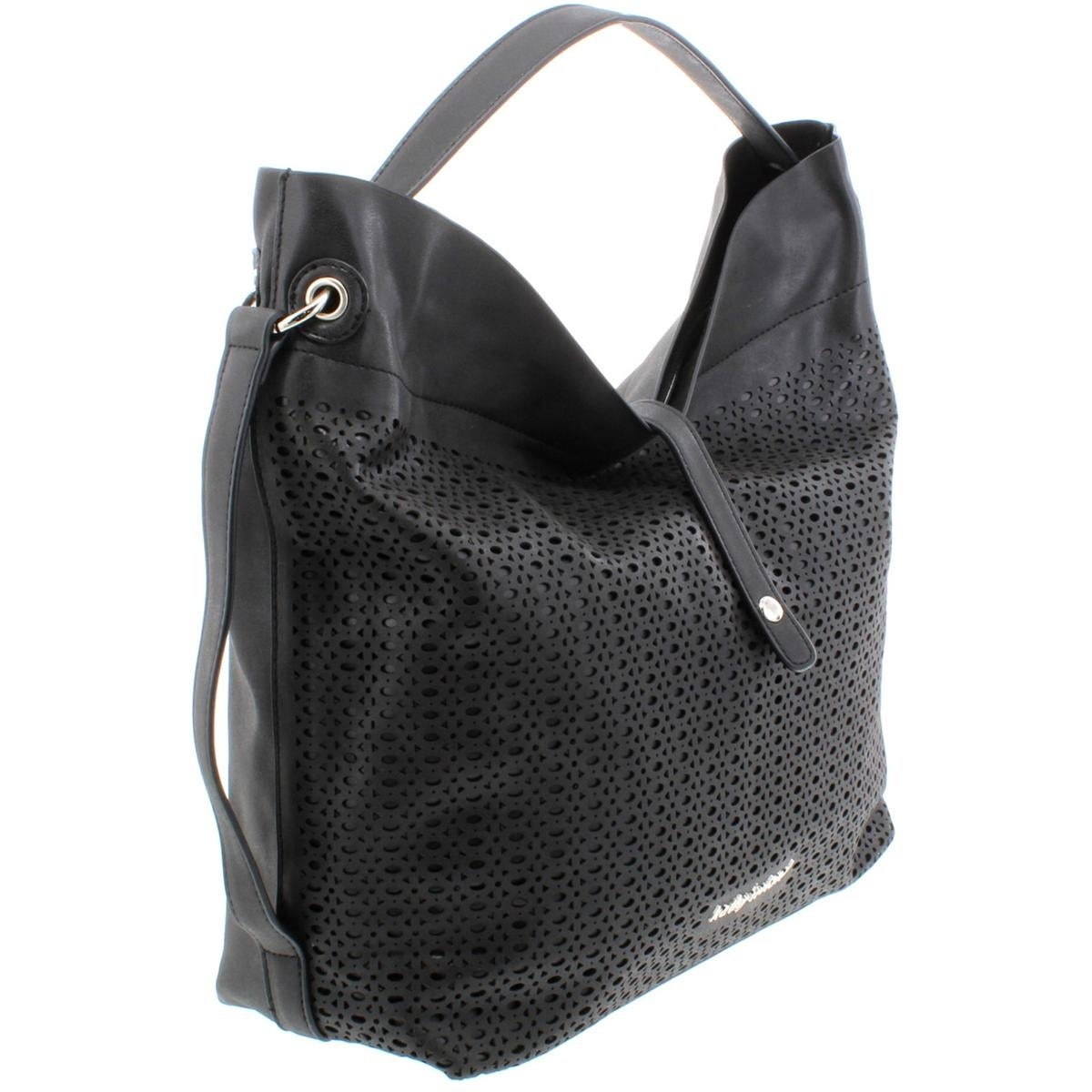 78353bc9c606 Shop Kathy Ireland Womens Hobo Handbag Faux Leather Laser Cut - On Sale -  Free Shipping On Orders Over  45 - Overstock - 19296442
