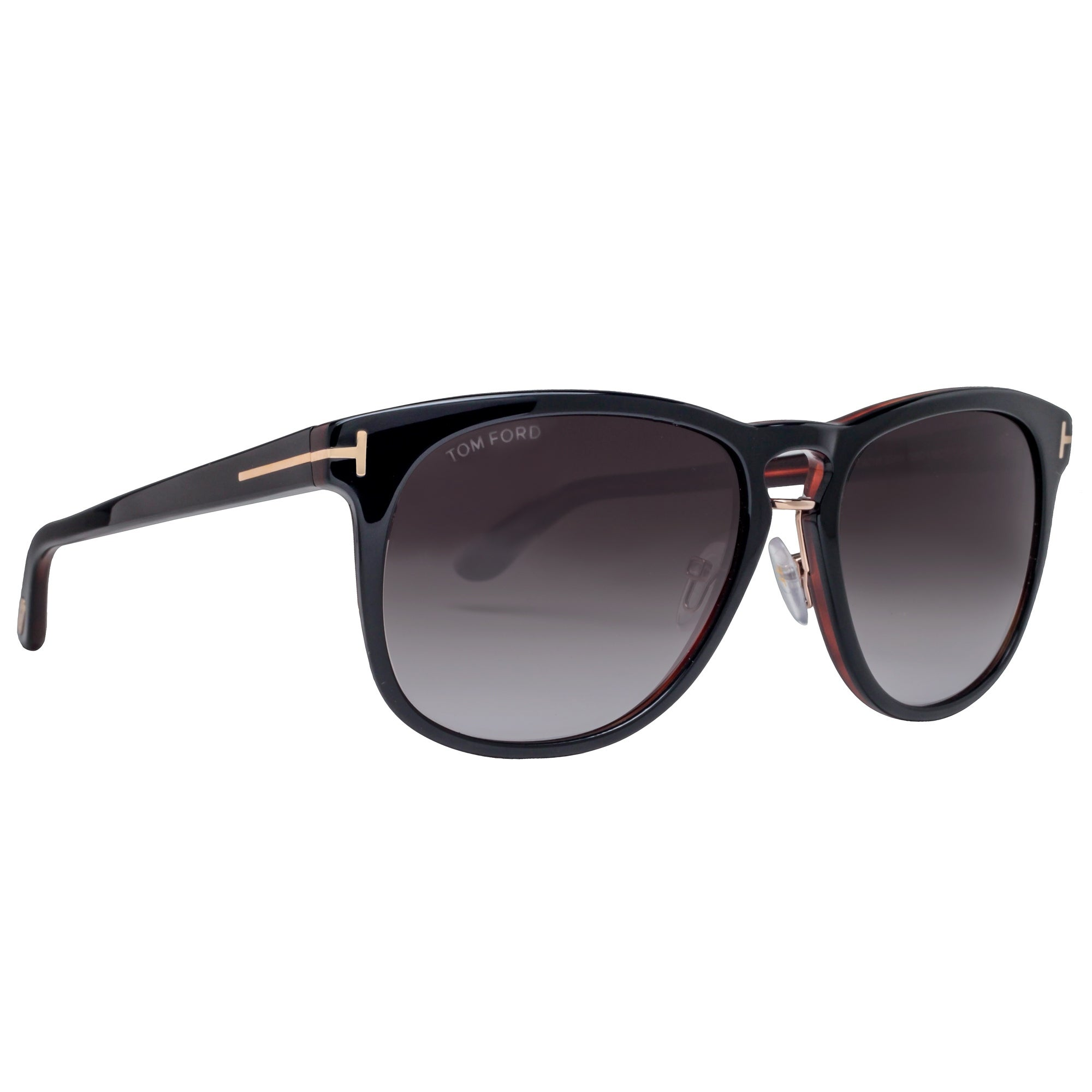3adf26fcbb2 Shop Tom Ford Franklin TF 346 01V 59mm Black Brown Gray Gradient Square  Sunglasses - 59mm-17mm-145mm - Free Shipping Today - Overstock - 16994476