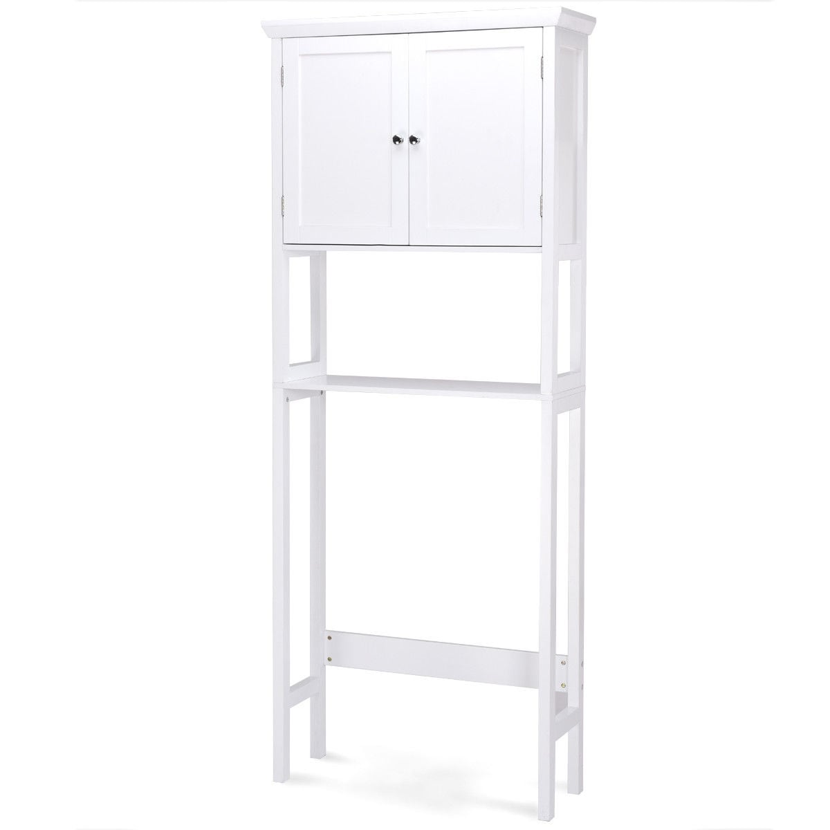 Shop Costway Toilet Storage Space Saver Towel Rack Shelf Cabinet ...