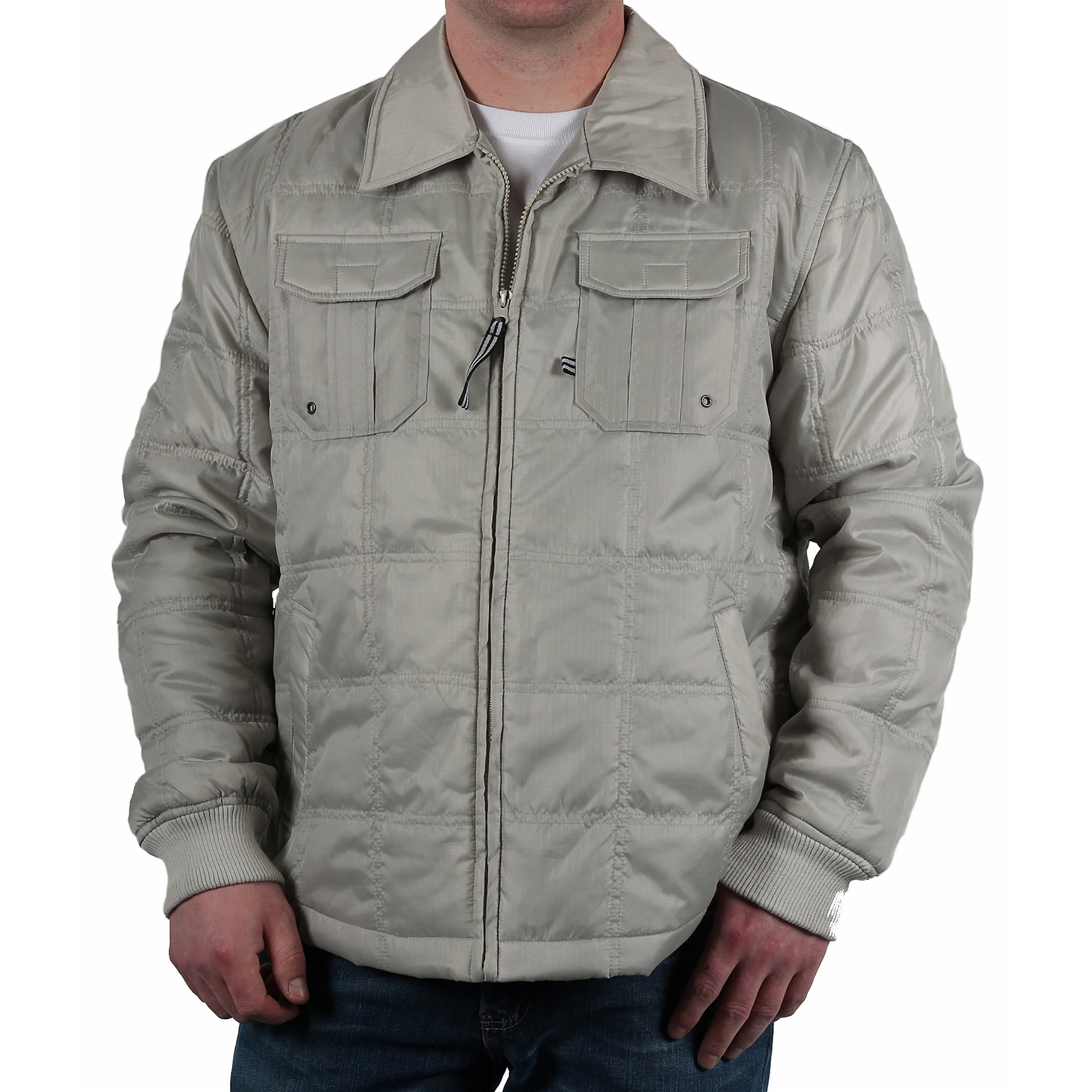 Shop Alexander Julian Mens Quilted Shirt Jacket Free Shipping On
