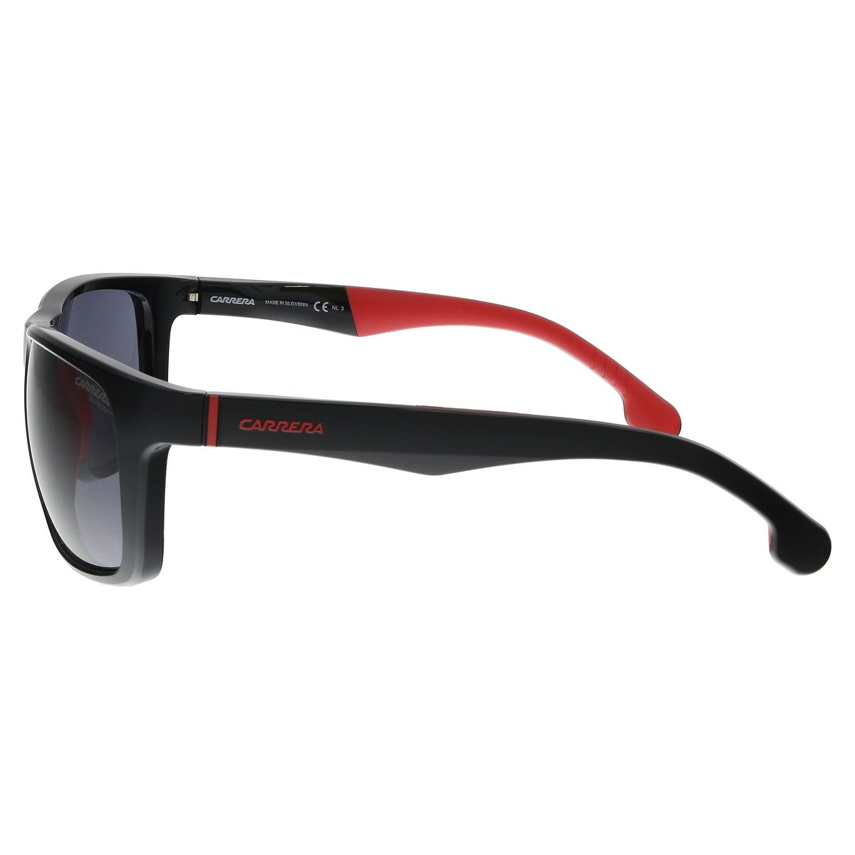 c703491e8e303 Shop Carrera CARRERA 8027 S 0807 Black Rectangle Sunglasses - 57-19 ...