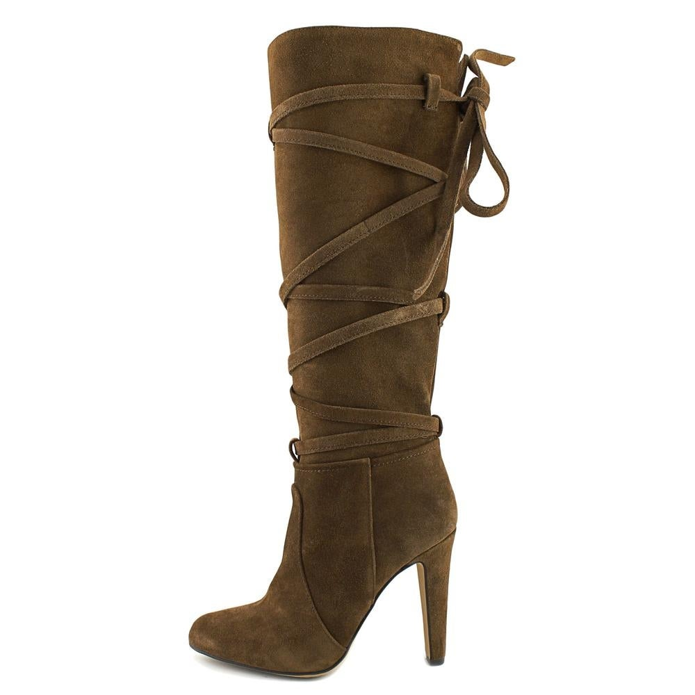 acc16253ad6 Shop Vince Camuto Millay Women Round Toe Suede Brown Knee High Boot - Free  Shipping Today - Overstock - 17520070