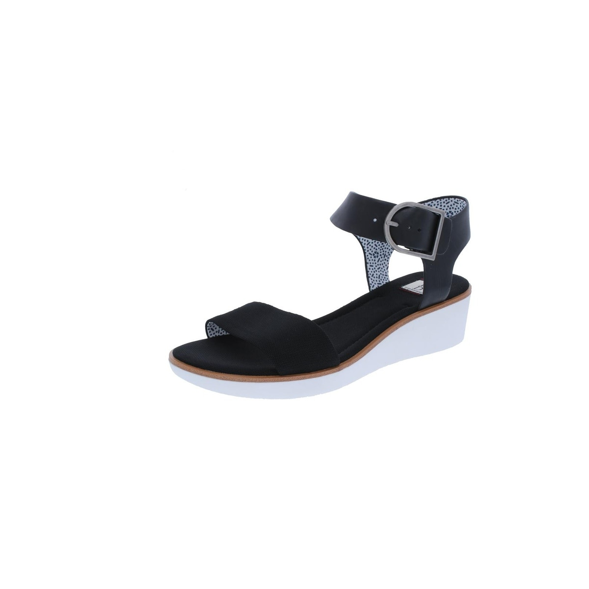 0e3d62fc9ee Shop ED Ellen DeGeneres Womens Stella Wedge Sandals Open Toe Ankle ...