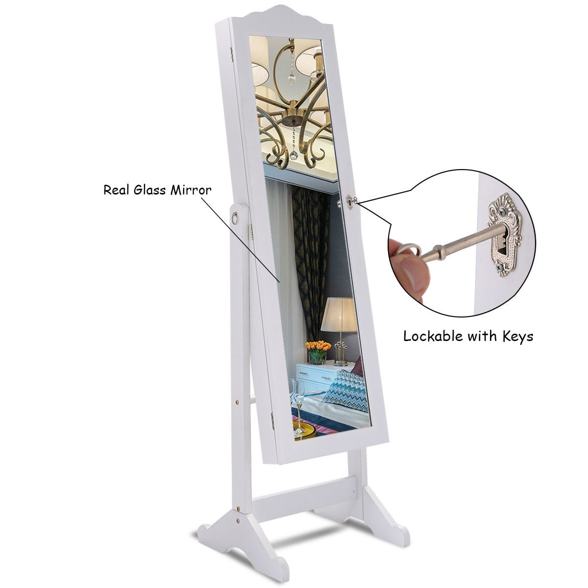 length cabinet jewelry mirrors webbo floor design full mirrored mirror
