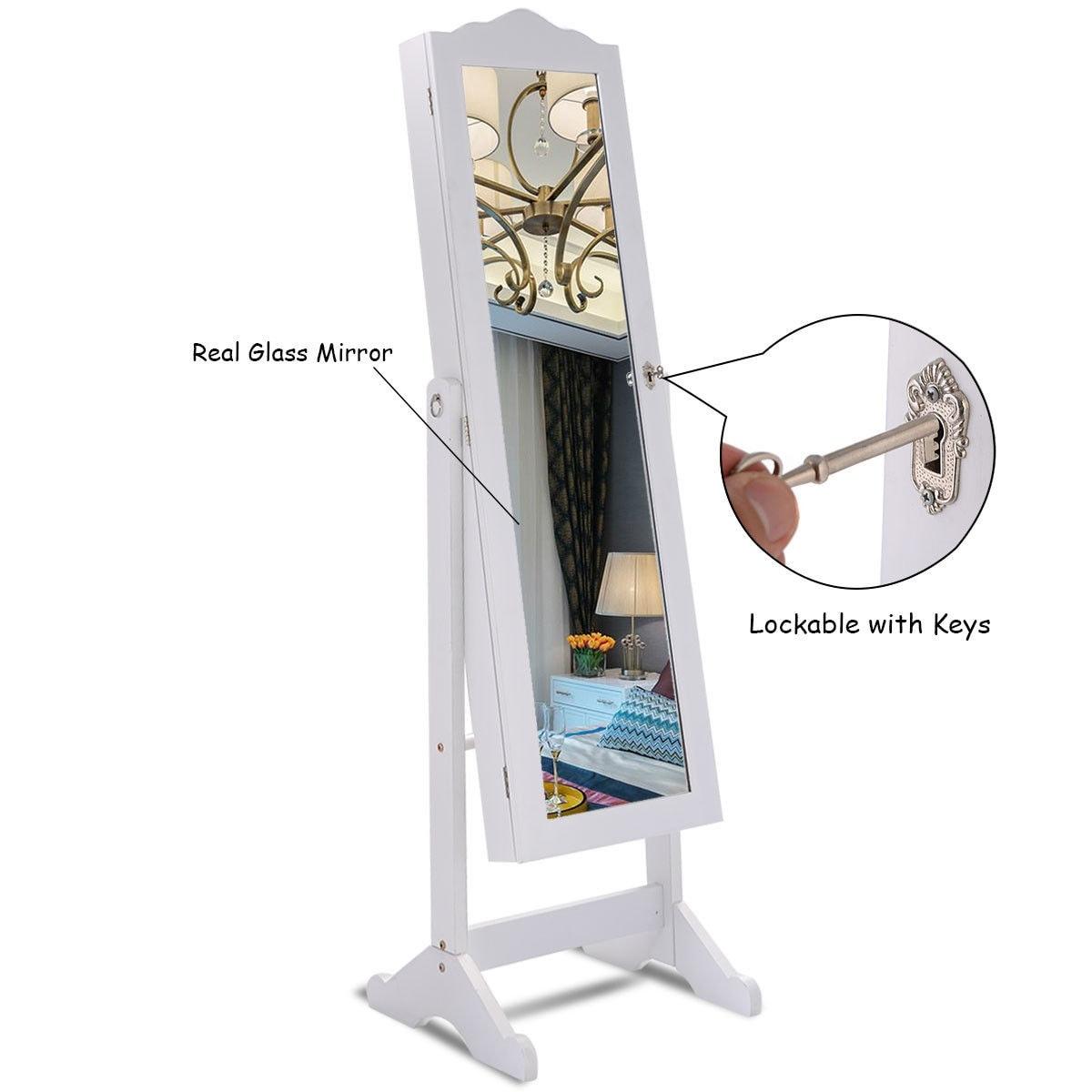 wall mount image jewelry mirrored cabinet door mirror armoire