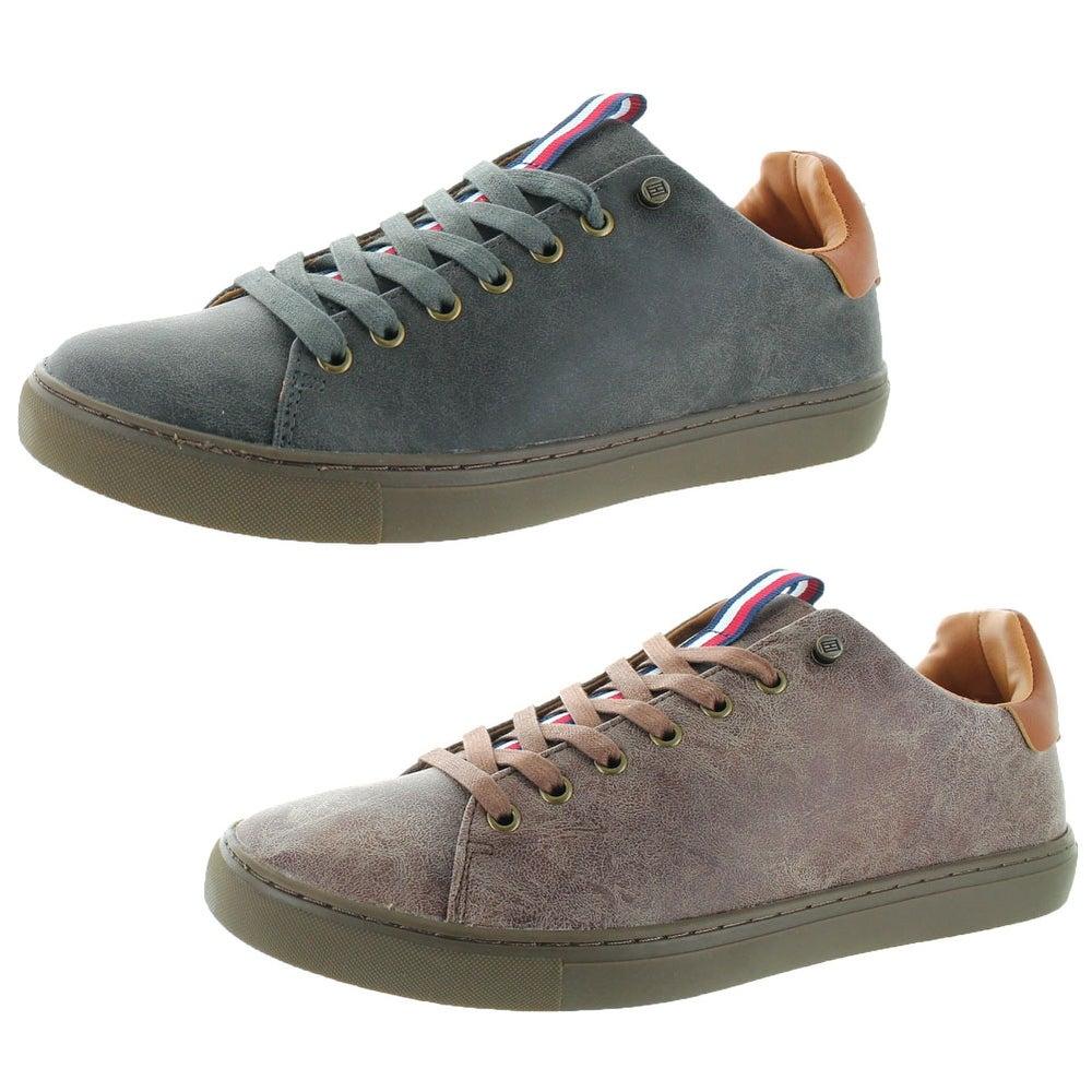 a7e0d7dc5dcb Shop Tommy Hilfiger Marks Men s Faux Leather Sneakers - Free ...