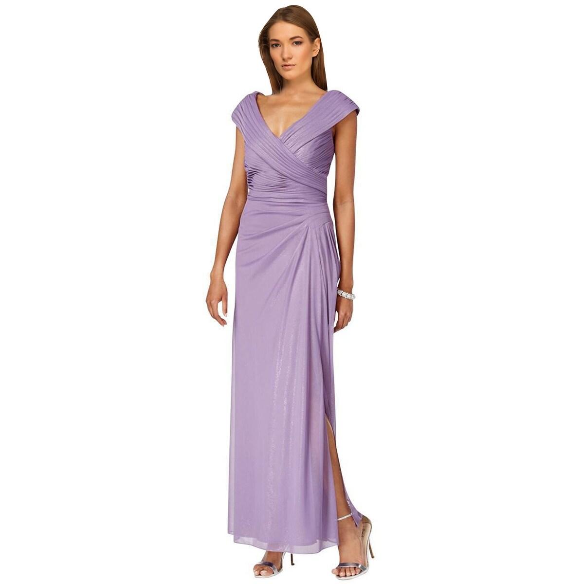 Shop Alex Evenings A-Line Portrait Collar Evening Gown Dress - 12 ...