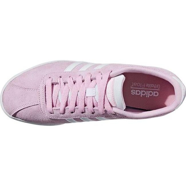1edfb392d5cf76 Shop adidas Women s NEO Courtset Sneaker Frost Pink F14 FTWR White FTWR  White - Free Shipping On Orders Over  45 - Overstock - 20722389
