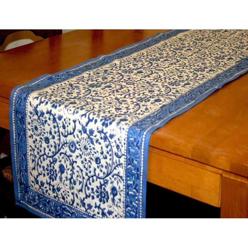 Charmant Shop Rajasthan Block Print Floral Round Tablecloth Rectangular Cotton Table  Napkins Placemats Runner   Free Shipping On Orders Over $45   Overstock.com    ...